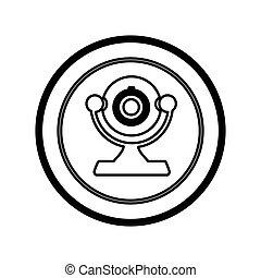 figure symbol computer camera icon