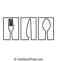 figure symbol cutlery food icon
