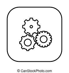 figure symbol gears icon