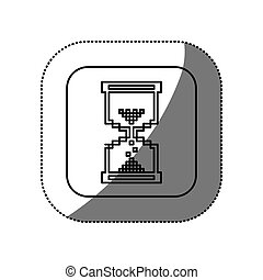 figure symbol hourglass icon