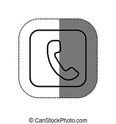 figure symbol phone icon