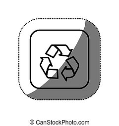 figure symbol recycle icon