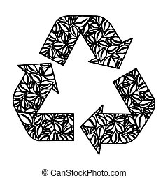 figure symbol reuse, reduce and recycle icon