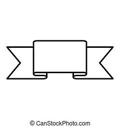 figure symbol ribbon icon