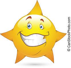 figure, vecteur, étoile, smiley, icône