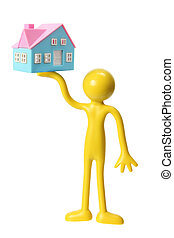 Figure with Miniature House
