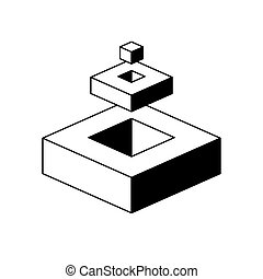 Figure with optical effect