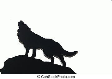 figure wolf on a white background