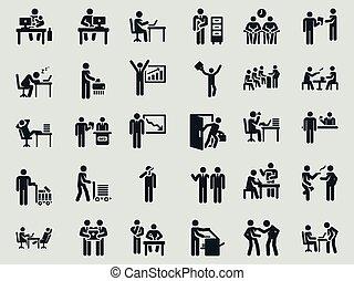 figure., worker., スティック, オフィス, weekdays