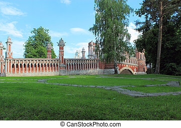 Figured bridge in Tsaritsyno. Moscow.