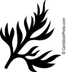 Figured delicate leaf