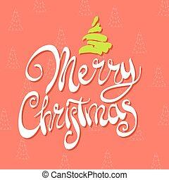 Figured inscription Merry Christmas