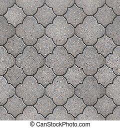 Figured Pavement. Seamless Tileable Texture. - Gray Figured...