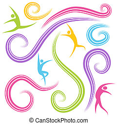 figuren, tanzen