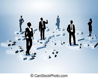 figures, сеть, человек, социальное