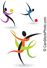 Figures Athletes - Vector shapes athletes performed using...