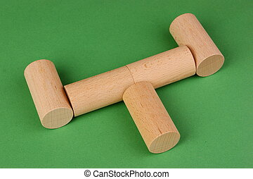 figures for the Russian game kubb