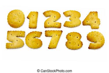 figures, formulaire, jaune, biscuits