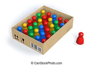 Figures in box