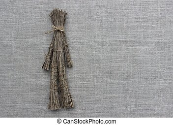 Figures of men made from the dry grass