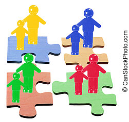 Figures on Puzzle Pieces