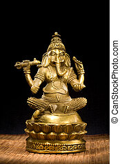 Indian God of success and prosperity. Patron of arts, sciences, intellect, wisdom, Remover of Obstacles, Lord of Beginnings.