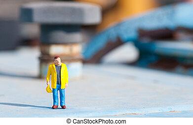Figurine of construction worker