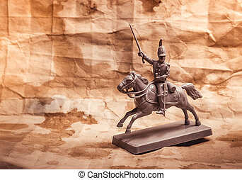 Figurine soldier, Russian dragoon - Figurine soldier on a...