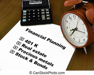 Figuring out the best strategy for setting up a financial portfolio for wealth success and prosperity .