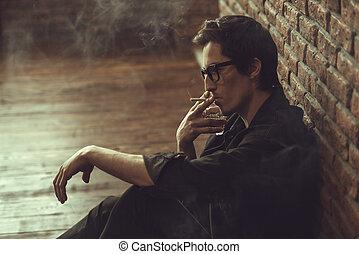 figyelmes, bábu dohányzás