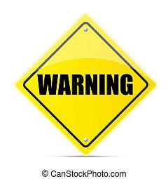 figyelmeztetés, út cégtábla