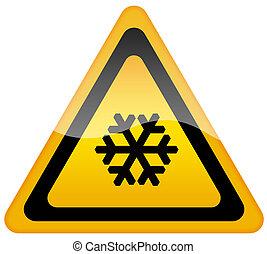 figyelmeztetés, hó, aláír
