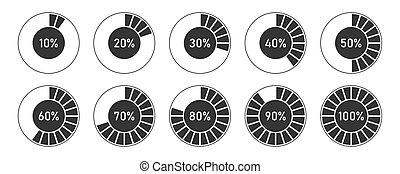 figyelmeztetők, százalék, vektor