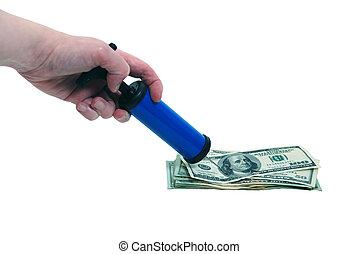 fijación, el, dinero, crisis