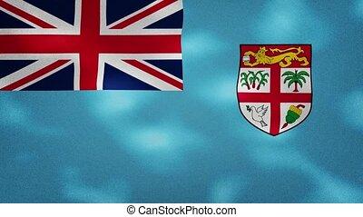 Fiji dense flag fabric wavers, background loop - Fiji dense ...