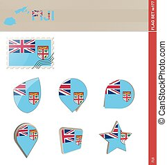 Fiji Flag Set, Flag Set #177
