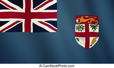 Fiji flag waving animation. Full Screen. Symbol of the country.