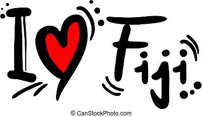Creative design of fiji love