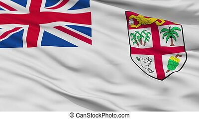 Fiji Naval Ensign Flag Closeup Seamless Loop