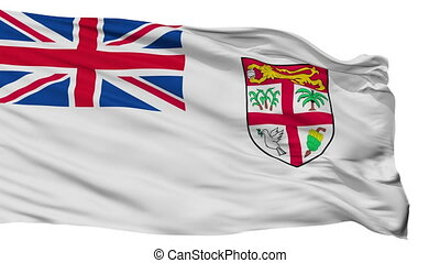 Fiji Naval Ensign Flag Isolated Seamless Loop