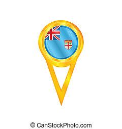 Fiji pin flag