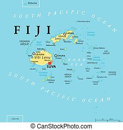 Fiji Political Map