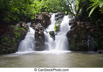 Fiji Waterfall - Image using slow shutter speed to capture...