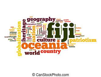 fiji, woord, wolk