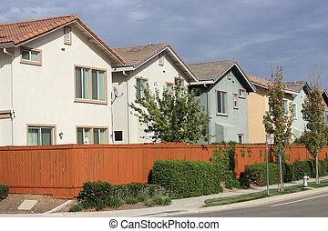 fila de casas