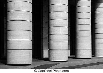 fila, de, colunas