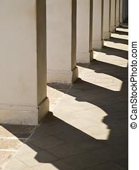 fila, de, pilares