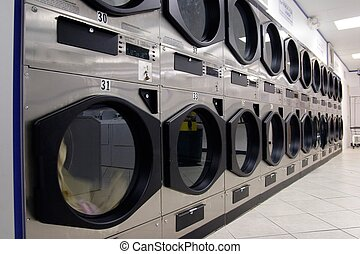 fila, de, secadores