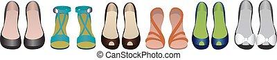 fila, isolato, scarpe