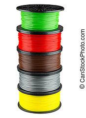 Filament coils for 3d print - Five ABS or PLA filament coils...